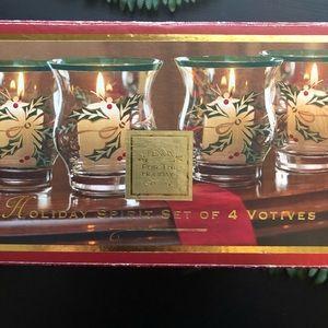 Lenox Set of 4 Holiday Voltives